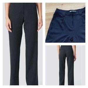 NAKD Pinstripe Smart Pants Black EU36